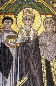Ravenna - Mosaico Basilica San Vitale Teodora interno